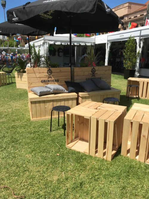 Event space installation at TDU